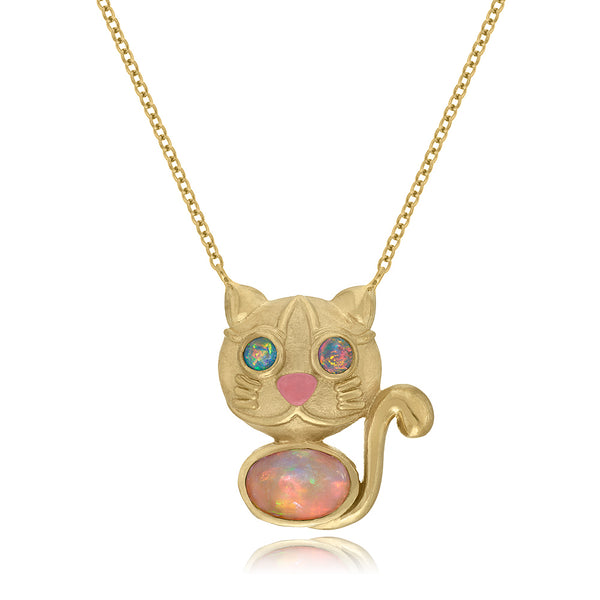 Jackson Rainbow Kitty Pendant