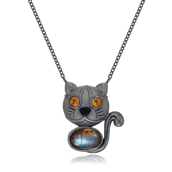 Jackson Black Kitty Pendant