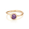 Amethyst Scroll Ring
