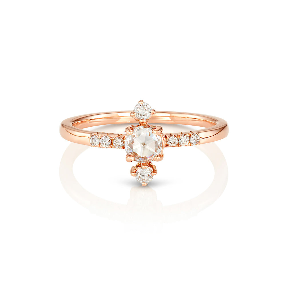Yours only - Rose cut Line Diamond Ring