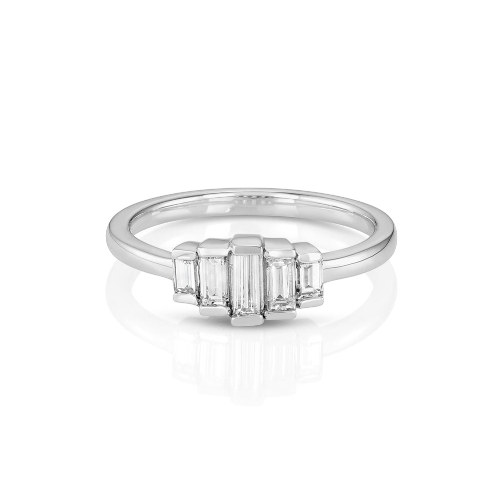 Yours only - Cluster Baguette Diamonds Ring