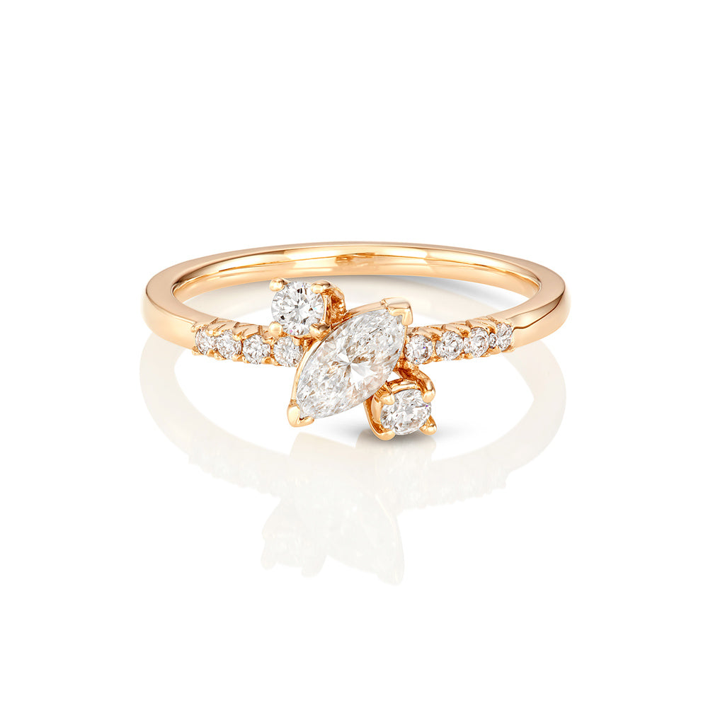 rings marquis cluster ring diamond jewel the princess group aria gold products engagement rose marquise