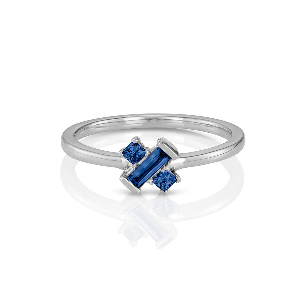 "Yours only - ""X"" Blue Sapphire Ring"