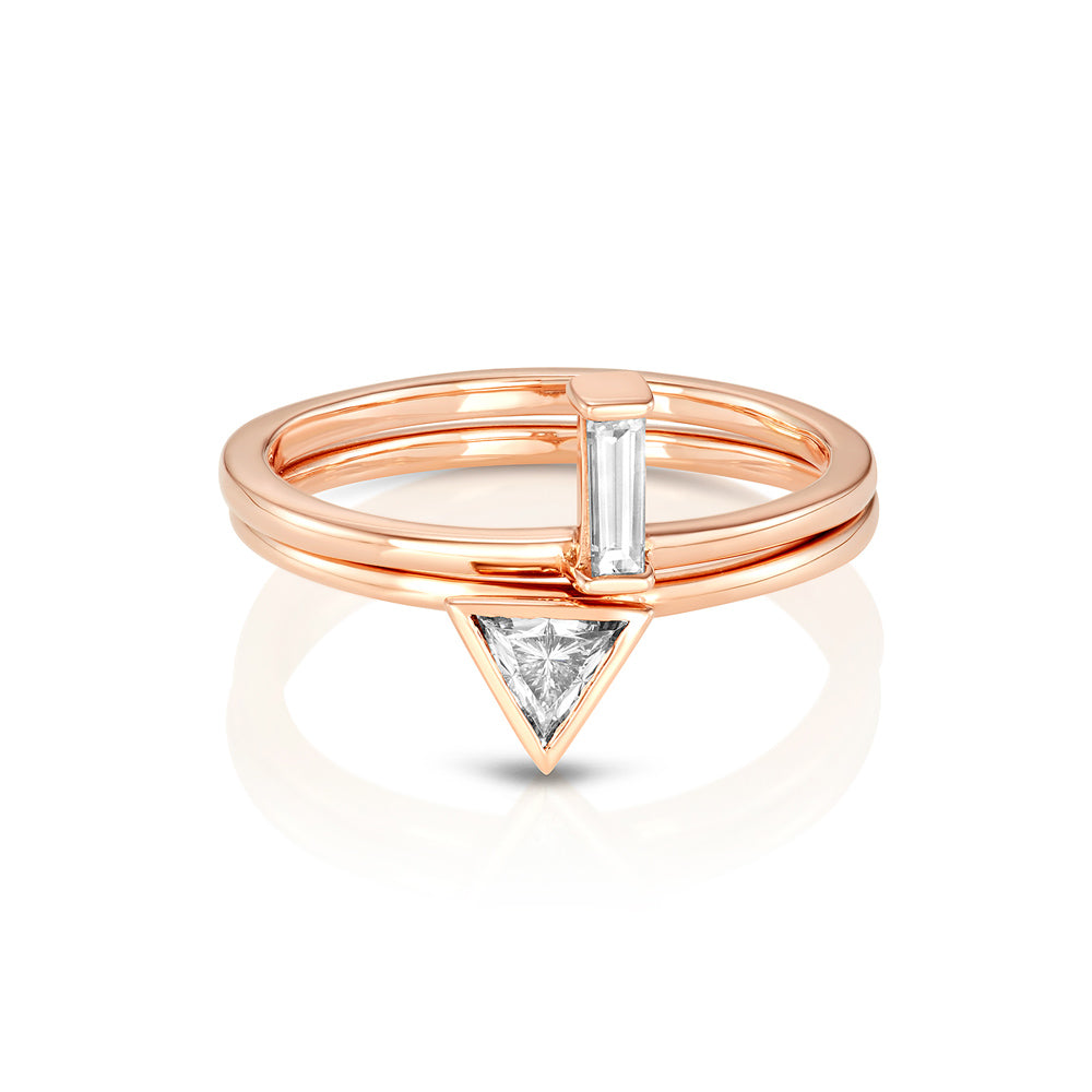 Yours only -  Single Baguette Diamond Ring