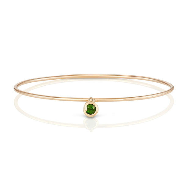 Scroll Charm Chrome Diopside Bracelet