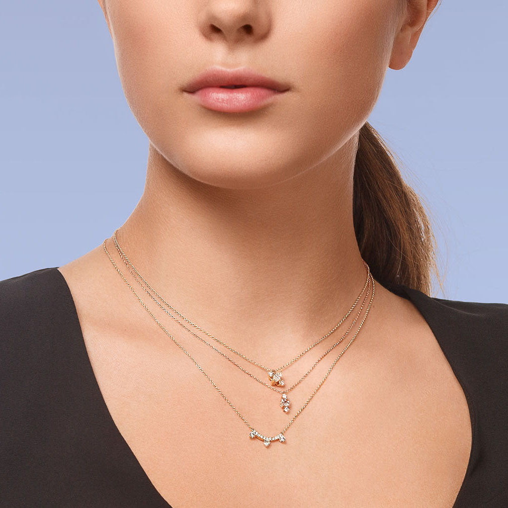 Yours only - Rose cut Line Diamond Pendant