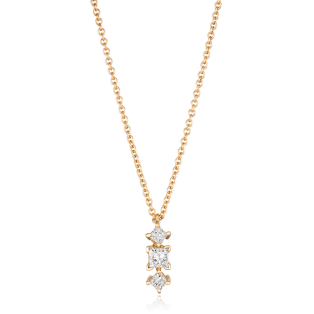 Yours only - Princess Diamond Pendant