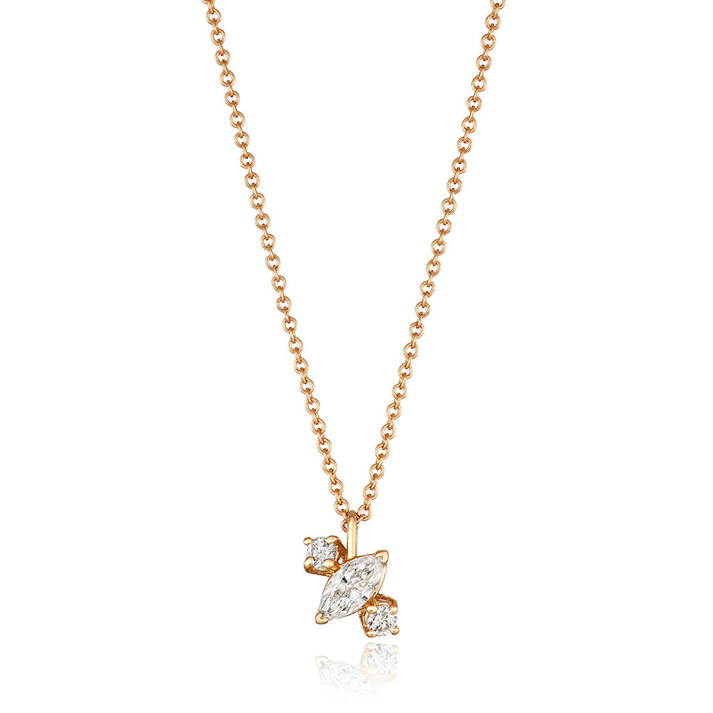 Yours only - Off Marquise Diamond Pendant