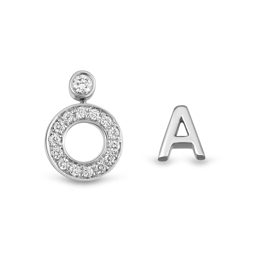 Modernist Initial Earring 'A'