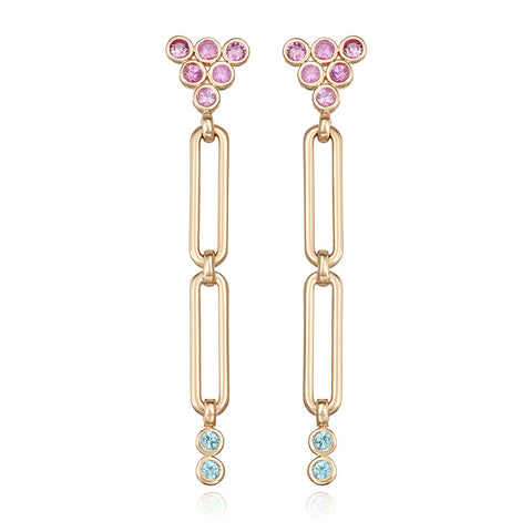 Modern Link Opal earrings