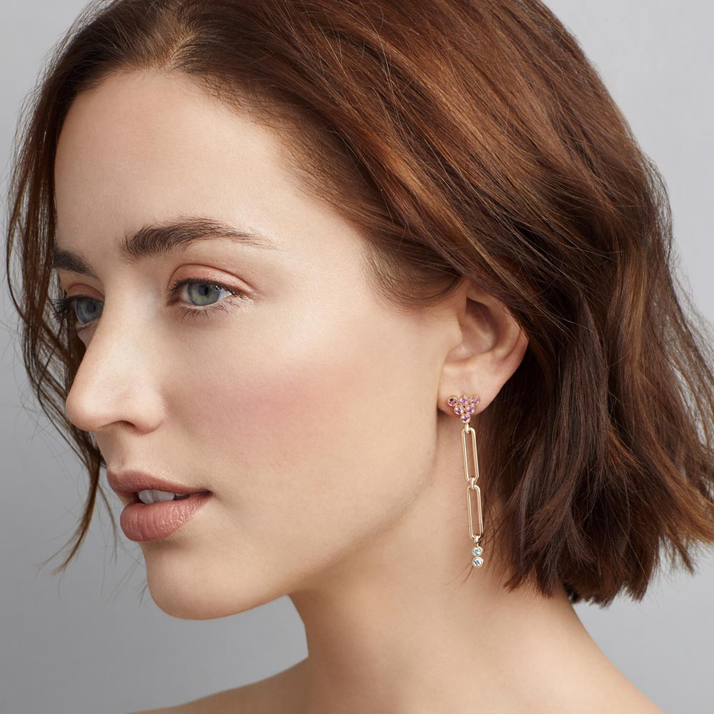 Modern Link Linear earrings
