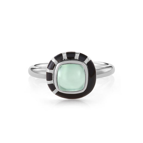 Modernist Signet Ring - Trillion Aqua