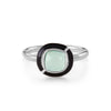 MINI GEO GREEN CHALCEDONY BLACK LINE RING