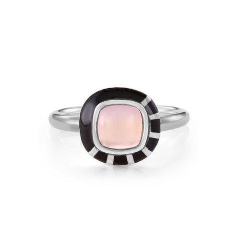 Scroll Charm Iolite Ring