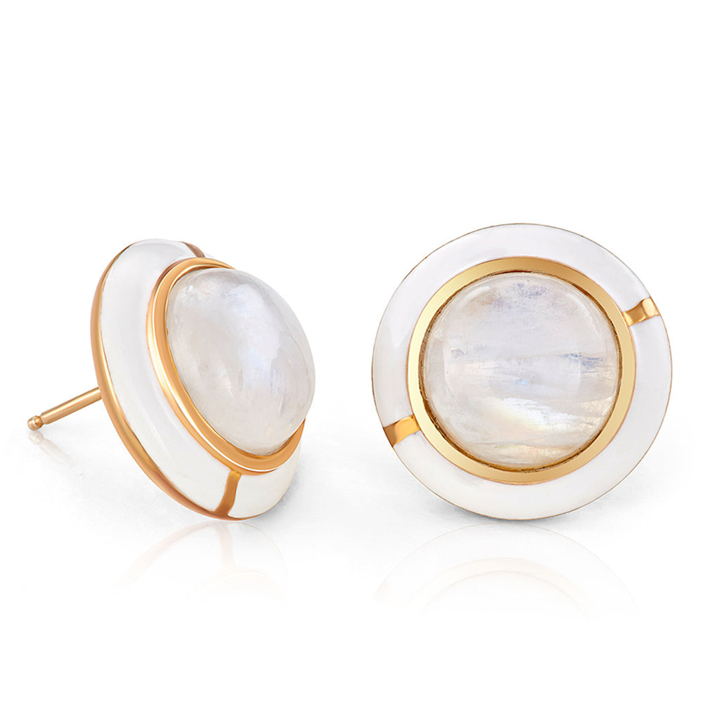 GEO MOONSTONE EARRING