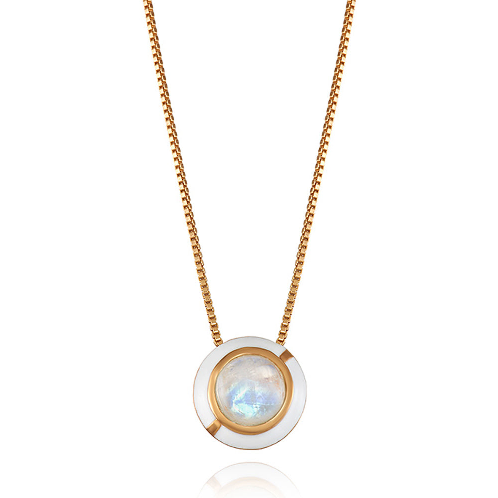 MINI GEO MOONSTONE PENDANT