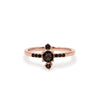 Yours only - Rose cut Line Black Diamond Ring