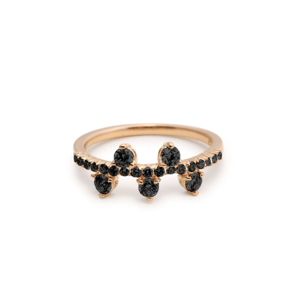 Yours only - Round Black Diamond Ring