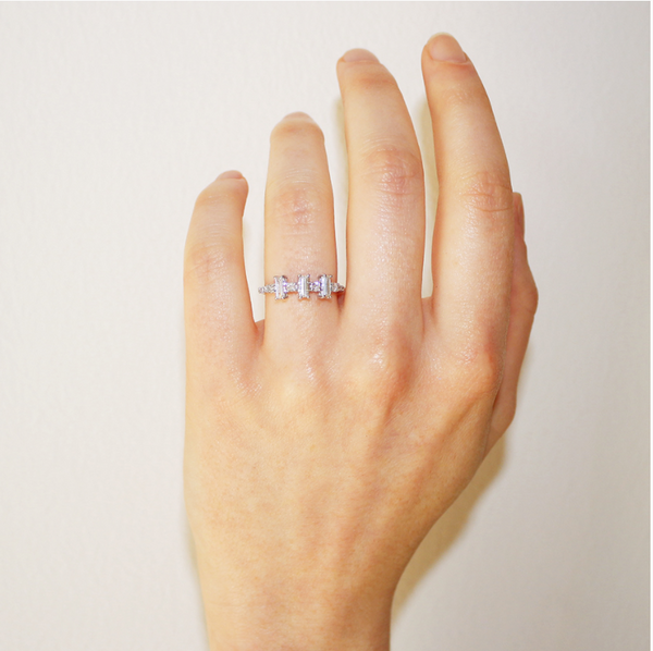 Yours only - Baguette Round Diamonds Ring