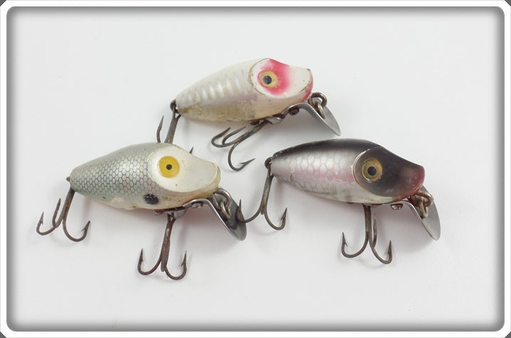 Heddon Lot Of Three Midget Digits To Fish With