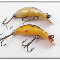 Heddon Tiny Tad Pair: Golden Shiner & Yellow Spotted