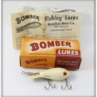 Bomber Bait Co White Bomber In Box With Paper 218