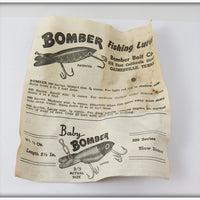 Bomber Bait Co White Bomber In Box With Paper 211