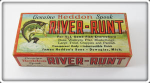 Heddon Empty Box For Rainbow River Runt Spook Sinker