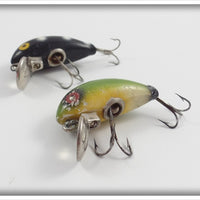 Layfield Lure Pair: Black White Spots & Green
