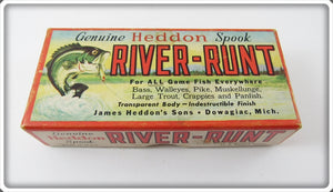 Heddon Empty Box For Yellow Shore Midget River Runt Spook