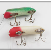 P & K Bright Eyes Pair To Fish With: Frog & Red/White
