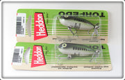 Heddon Baby Bass Tiny Torpedo Lure Pair On Cards