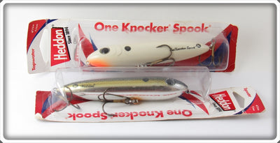 Heddon One Knocker Spook Lure Pair On Cards