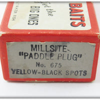 Millsite Empty Box For Yellow Black Spots Paddle Plug