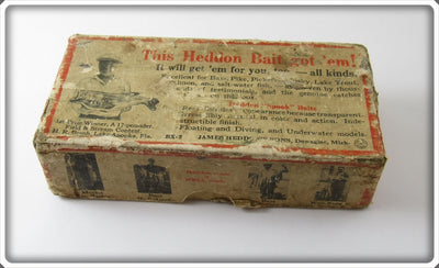 Vintage Heddon Empty Box For Pike Scale Red Head Zig Wag Lure