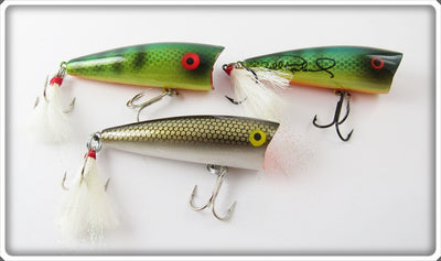 Rebel Perch & Gold Scale Pop R Lure Lot Of Three