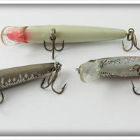 Rebel Natural & White Minnow Lot Of Three