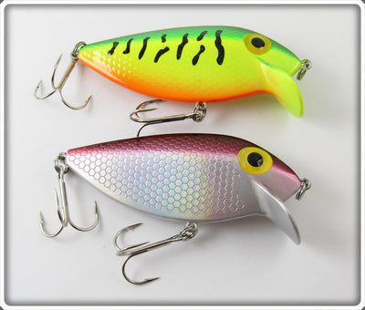 Storm Purple & Fire Tiger Thin Fin Lure Pair