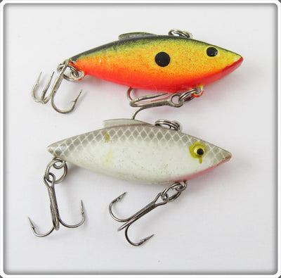 Unknown Yellow & Grey Scale Rattle Trap Type Lure Pair