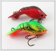 Unknown Red/Black & Yellow/Green Crawdad Pair