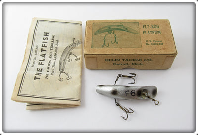 Vintage Helin Silver Spotted Fly Rod Flatfish Lure In Box