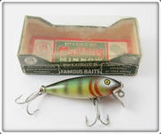 Vintage Pflueger Natural Perch Scale Mustang Lure In Box 8606