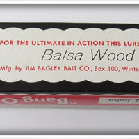 Bagley Bang O Lure Eel Finish Balsa Devil In Correct Box