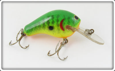 Vintage Bagley Green Crayfish On Chartreuse Kill'r B Lure