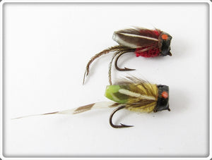 Jim Harvey Trout Quill Fly Pair: Red & Yellow