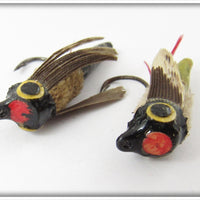 Jim Harvey Bass Quill Fly Pair: Black & Green