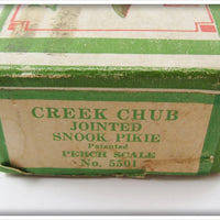 Creek Chub Empty Box For Perch Scale Jointed Snook Pikie