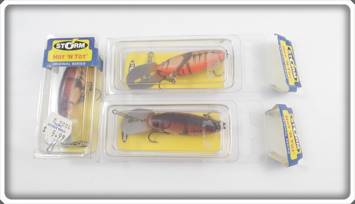 Storm Hot N Tot Naturalistic Crawdad Lot Of Three In Boxes H62