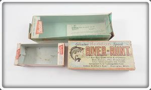 Heddon Lot Of Three Empty Boxes For Sonic, Vamp, & River Runt