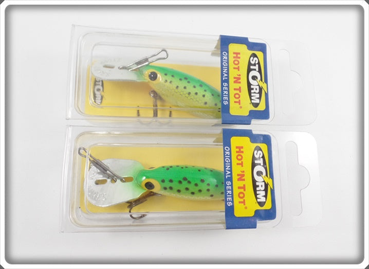 Storm Hot N Tot Pair Metallic Hot Green Specks In Sealed Boxes